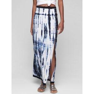 Athleta XS Marina Maxi Skirt Tie Dye Tencel Knit